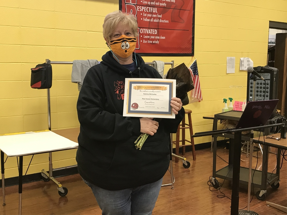 PFES Art Teacher Recognized for Service