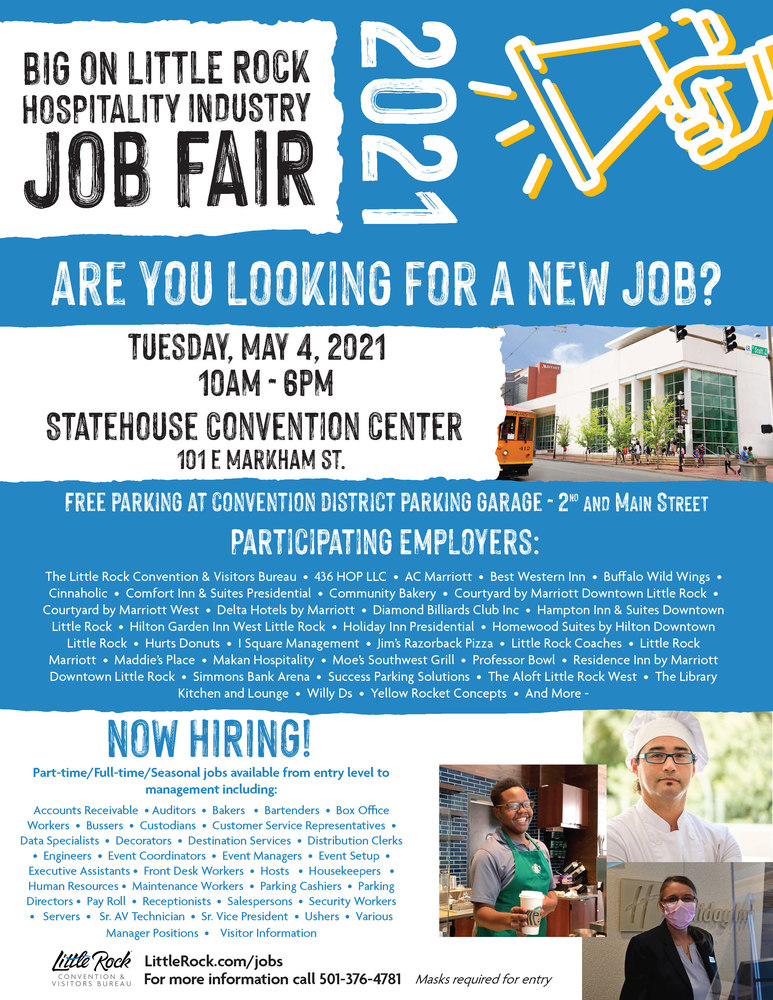 LRCVB Hosting Job Fair for Hospitality
