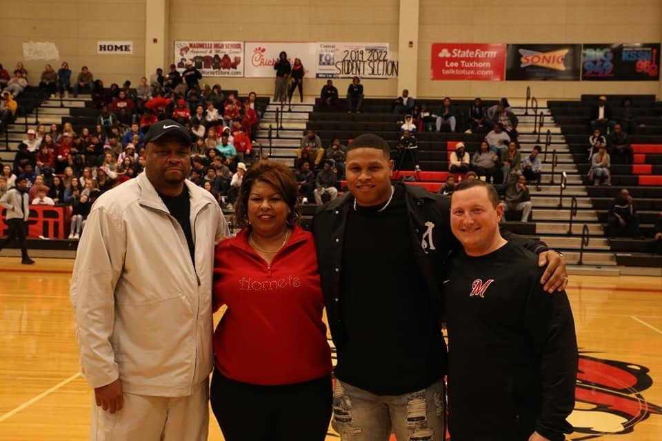 Former Maumelle High School Player's Jersey Retired