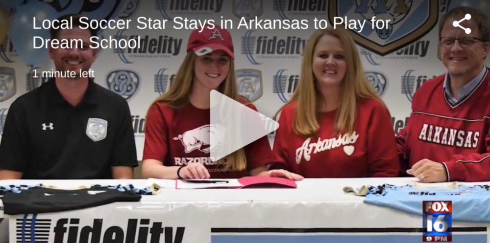 Local Soccer Star Stays in Arkansas to Play for Dream School
