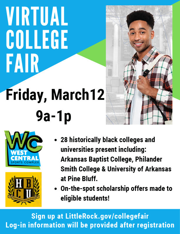 Registration for Virtual HBCU Awareness College Fair Now Open; West Central Community Center to Sponsor 500 Little Rock Students