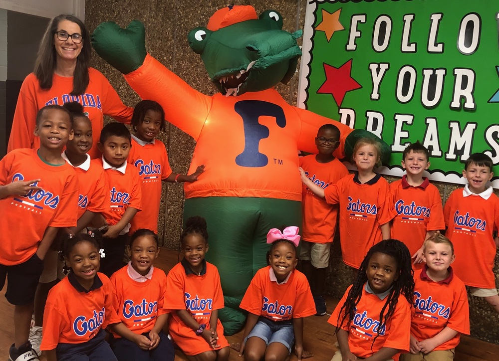 Florida Gators helping support Mrs. Scheuerman and her first grade class