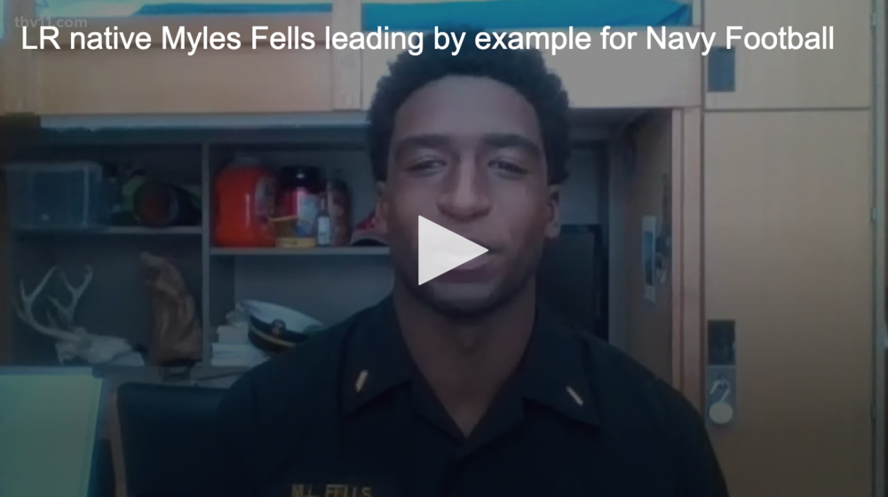 Little Rock native leading by example for Navy Football