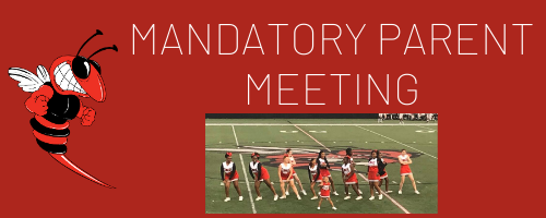 Parent Meeting for Cheer, Dance & Pep Squads