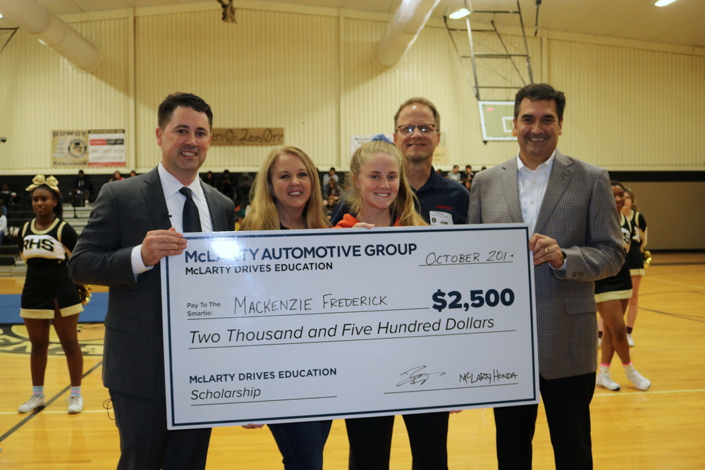 RHS Students Awarded McLarty Drives Education Scholarship