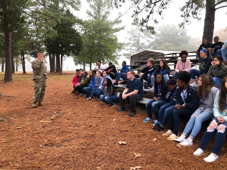 Military Club Visits Camp Robinson