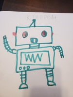 Sherwood Elementary Art Students Draw Robots