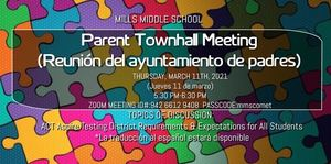 Parent Townhall Meeting-March 11th, 2021
