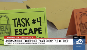 Robinson High School Uses Escape Room Tactics for Test Prep
