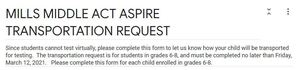 ACT Aspire Virtual Transportation Request Form