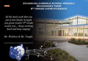 SHMS Recognizes 8th Grade Choir Students