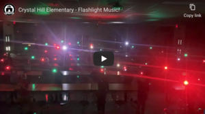 Crystal Hill Students Learn Christmas Flashlight Routine