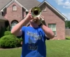 SHHS Student Plays for Taps Across America