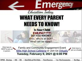 Family and Community  Engagement Event (FACE) Parent Workshop