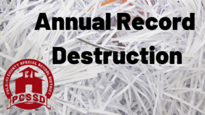 Record Destruction Announcement