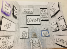 MMS Students COVID-19 Response Art Final Projects