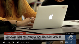574 active COVID-19 cases in public schools; 22 modifications to onsite instruction