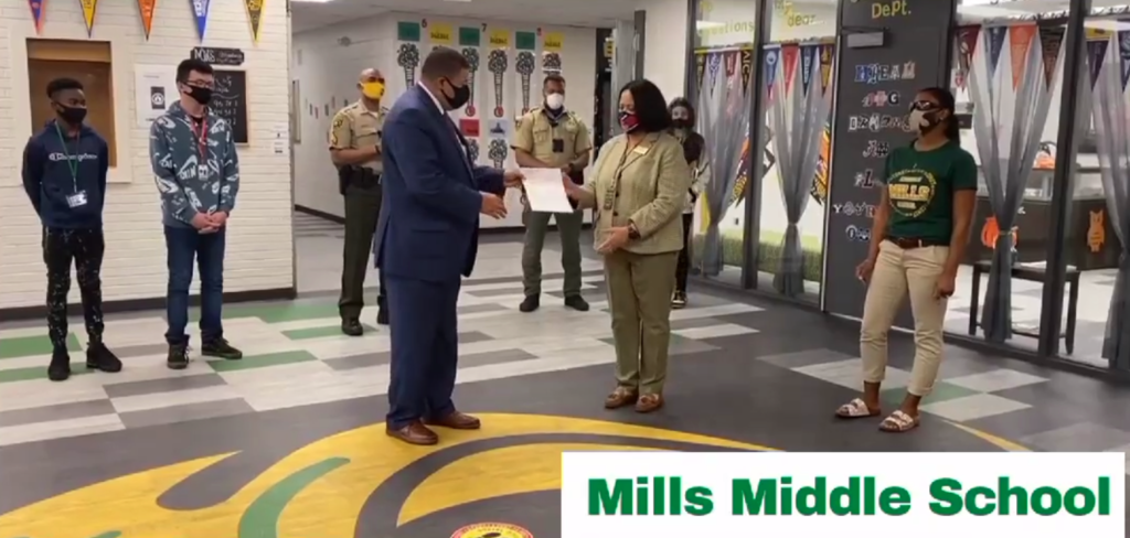 mills middle red ribbon week grant