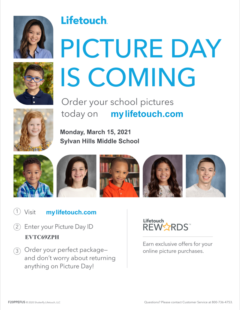 Picture Day is Monday, March 15th!
