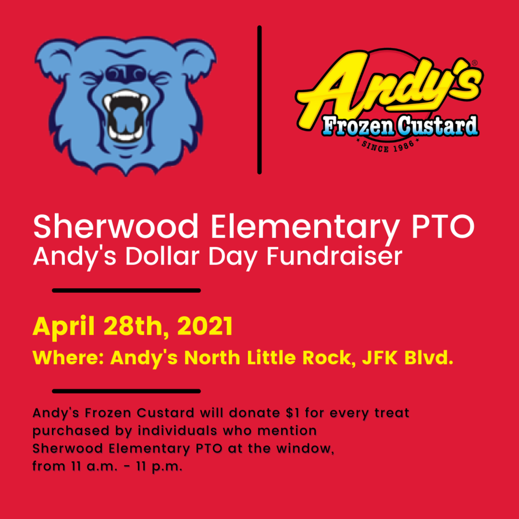 Andy's Dollar Fundraiser! Wednesday, April 28th