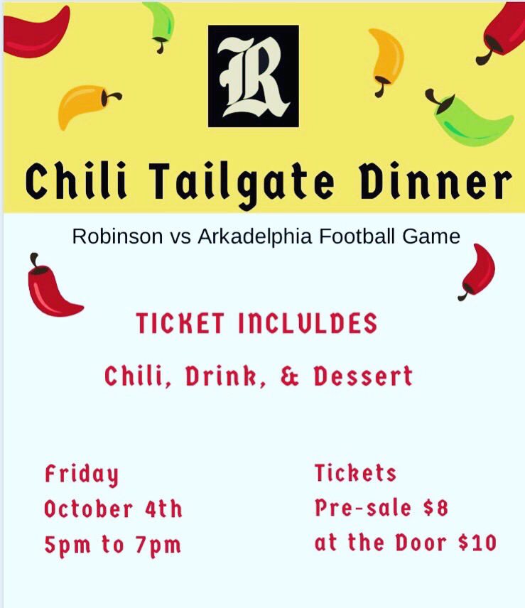 Announcement for chili dinner