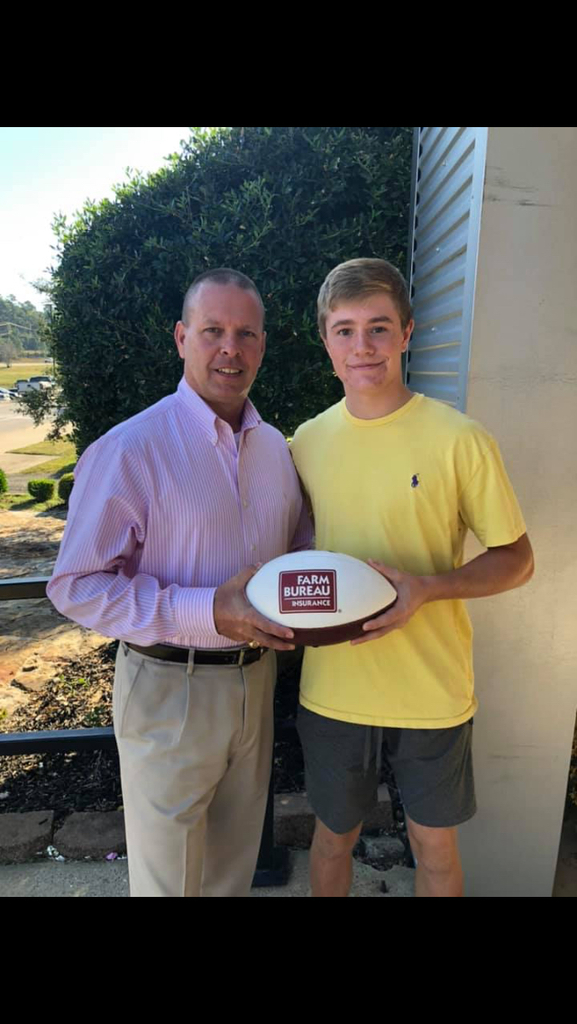 Grant Jones is the State Farm Football Player of the week!