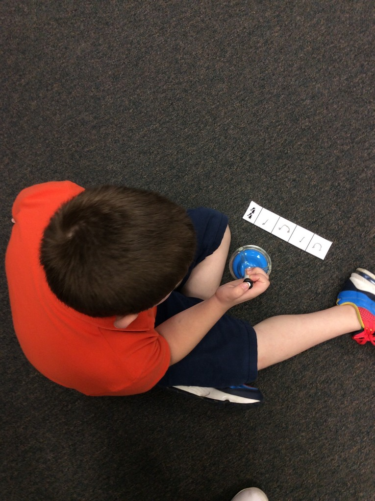 Second grade create and write their own rhythm