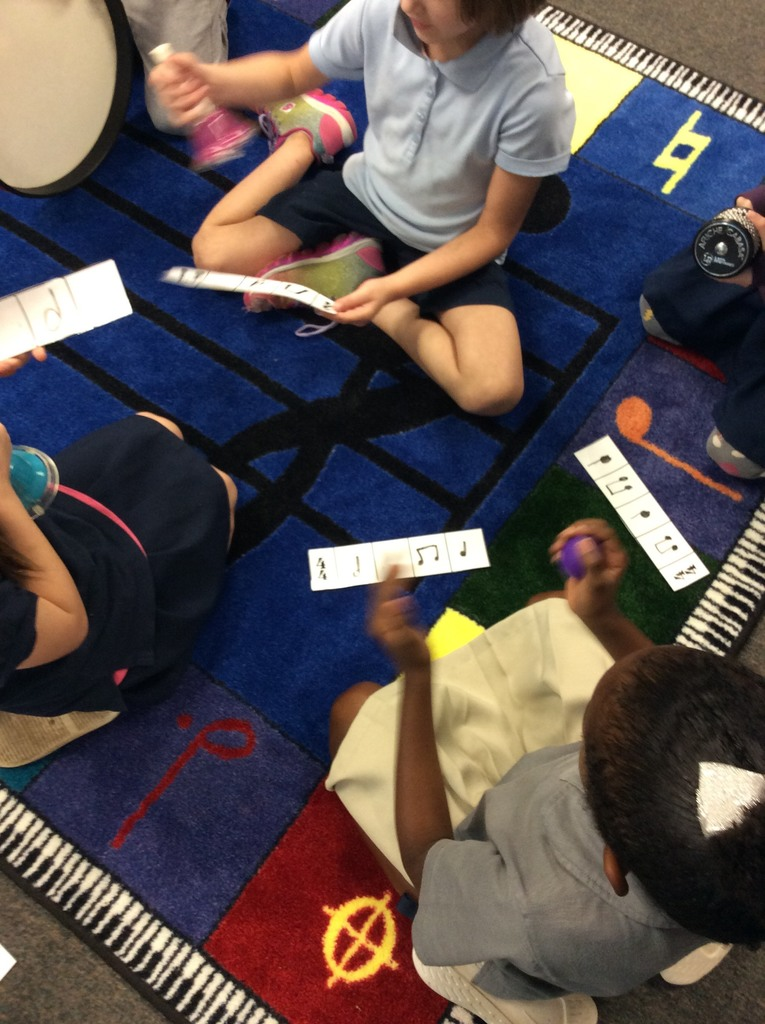 Second Grade students create and write their own rhythm