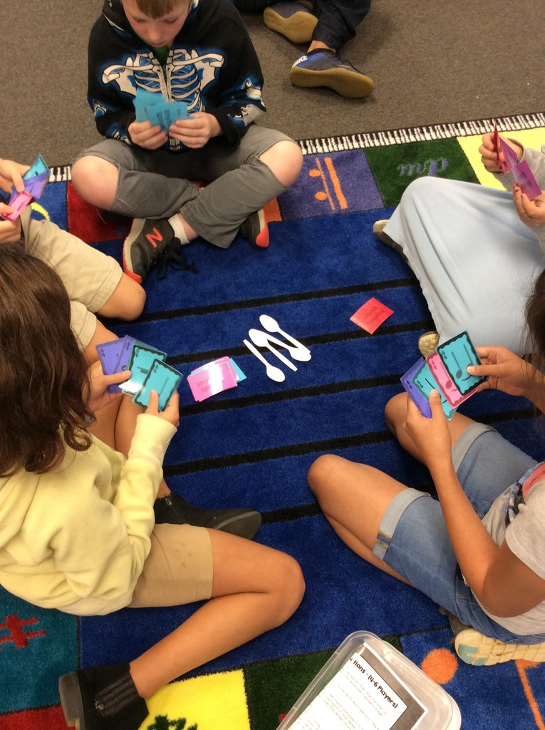 5th Grade Rhythm Centers during Music Class