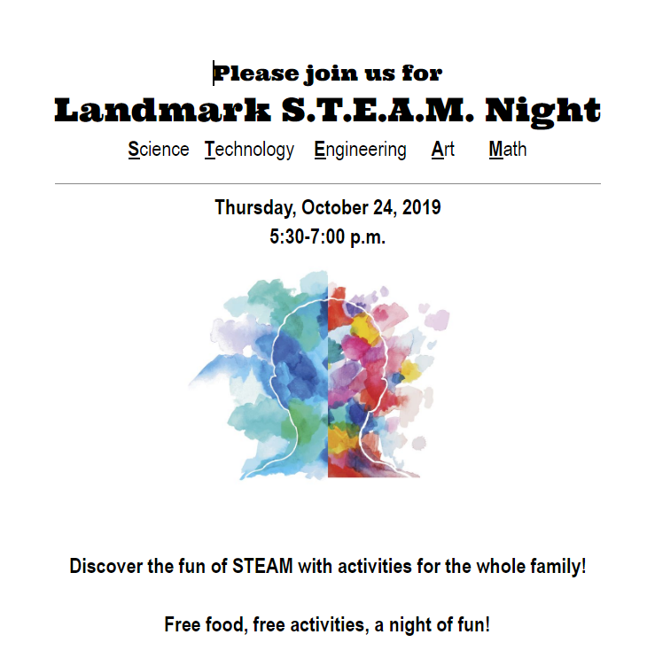 Family Night Flyer Oct. 24 5:30-7:00 pm