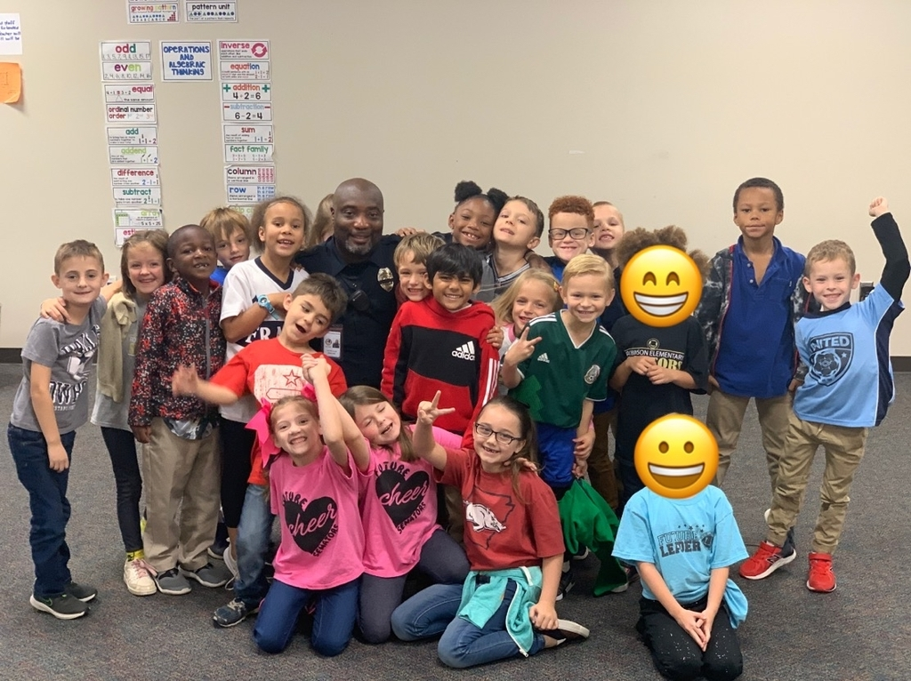 Officer Allen and Mrs. Miller's 1st grade class!