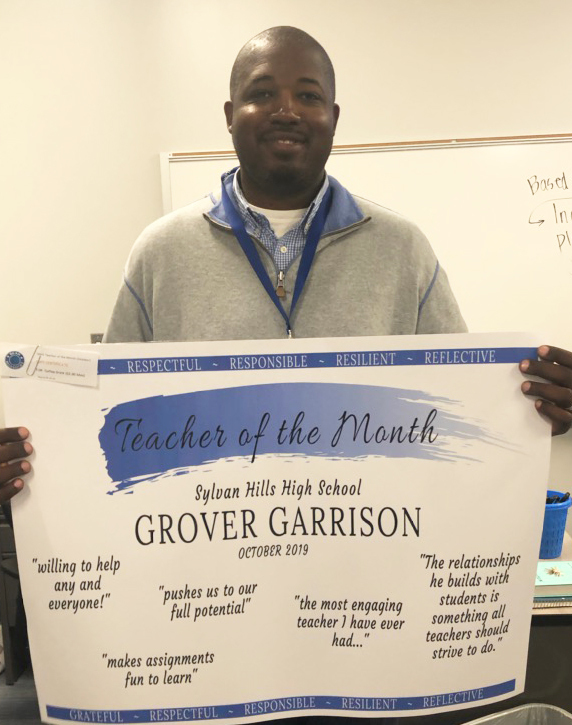 Grover Garrison, October Teacher of the Month
