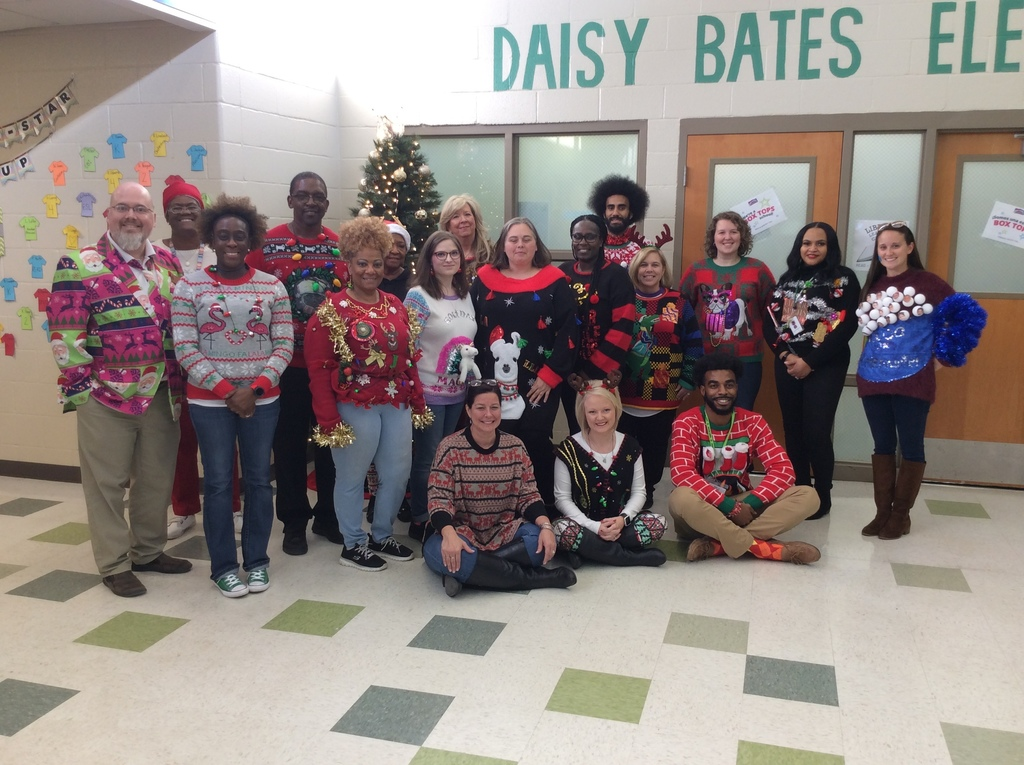 Faculty and Staff Ugly Sweaters at DBES.