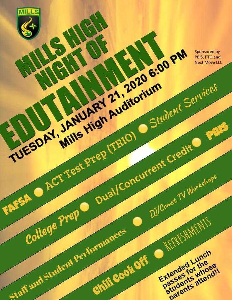 Edutainment Night Flyer