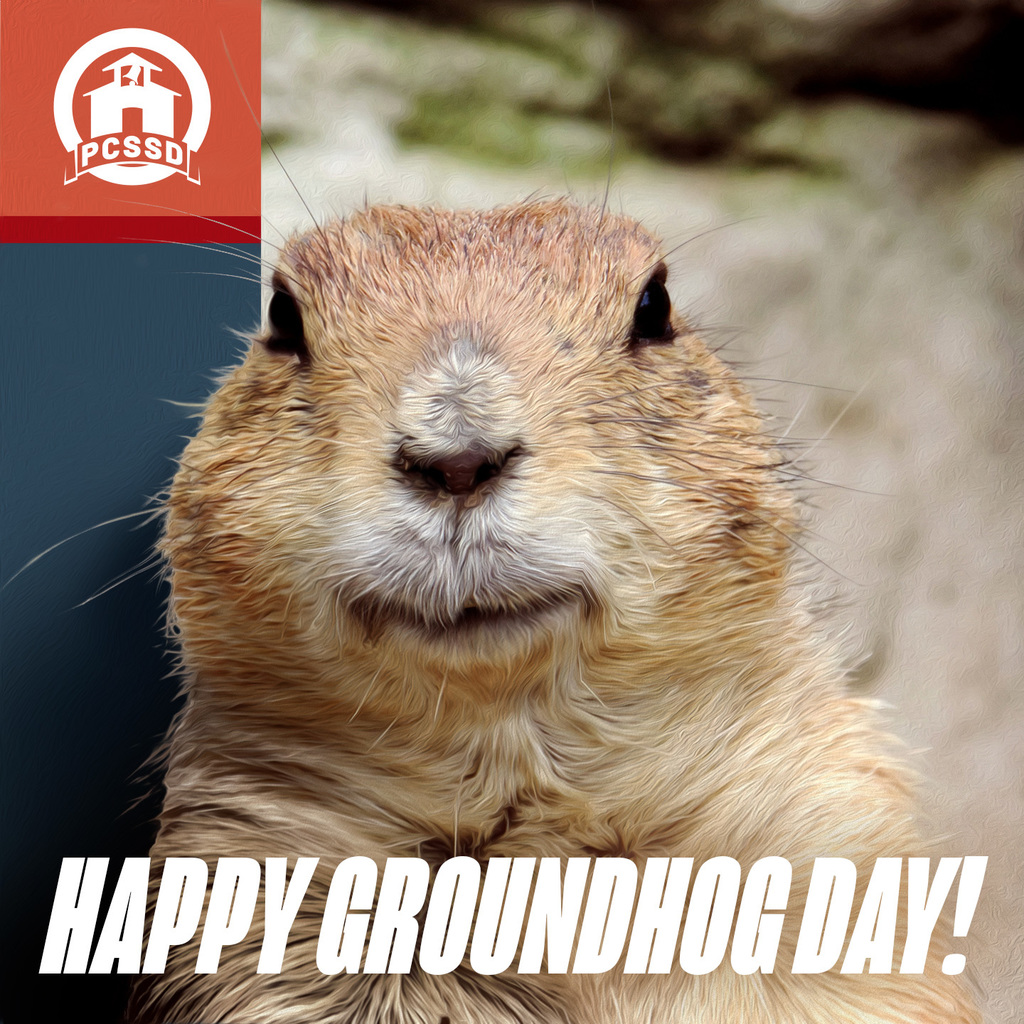 "Picture of Groundhog ""Happy Groundhog Day"""