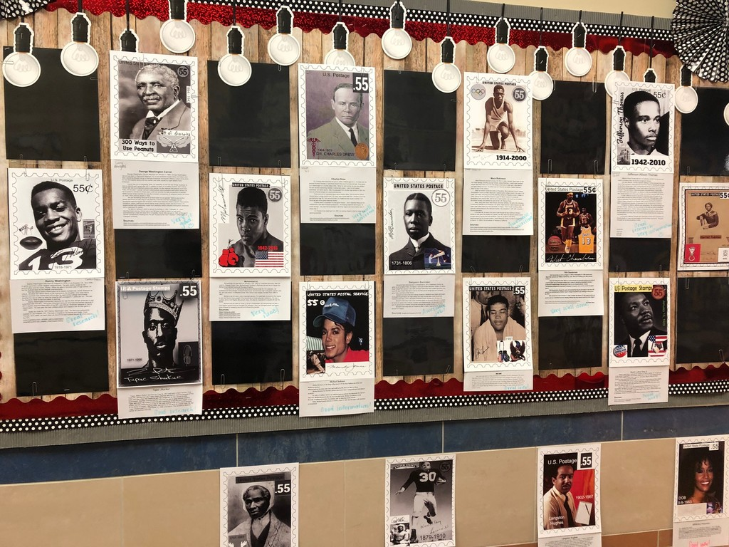 Photos and written reports or African American leaders