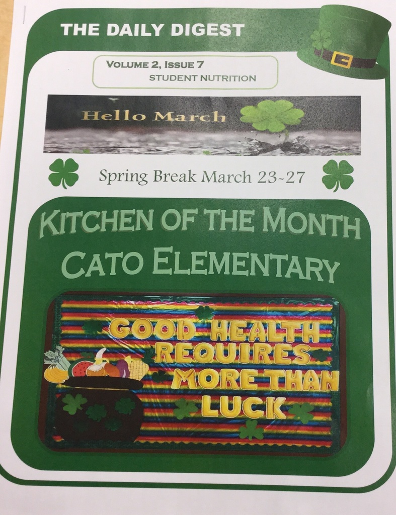 Kitchen of the Month:  Cato Elementary